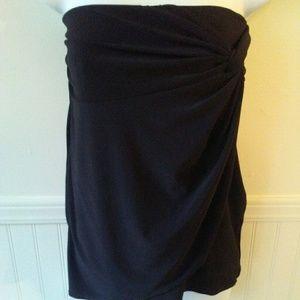 White house black market WHBM strapless blouse M